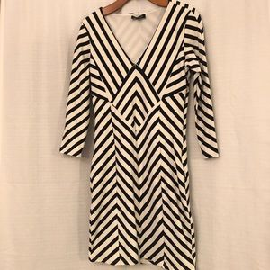 Large Black and White Bebe Dress